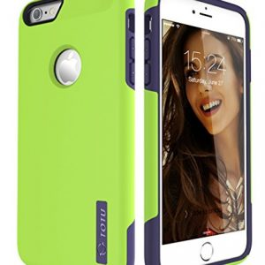 iPhone 6S Plus Case, TOTU Scratch Resistant Thin Armor Dual Layer Protective Hybrid Case Shock Absorbing Technology Case for Apple iPhone 6 plus (2014) and iPhone 6S Plus (2015) - Lime Green/Blue