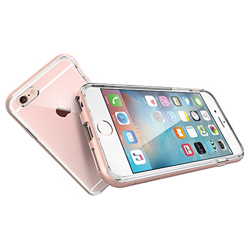 1be40344cf iPhone 6s Case, Spigen® [Neo Hybrid EX] PREMIUM BUMPER [Rose Gold] Clear  TPU / PC Frame Slim Dual Layer Premium Case for iPhone 6 (2014) / 6s (2015)  – Rose ...