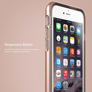 iPhone 6S Case, Caseology [Skyfall Series] Scratch-Resistant Clear Back Cover [Rose Gold] [Shock Absorbent] for Apple iPhone 6S (2015) & iPhone 6 (2014) - Rose Gold