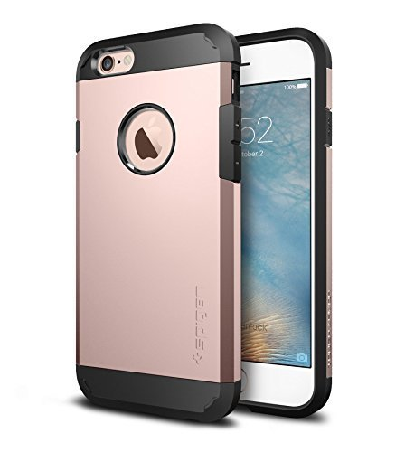 iPhone 6s Case, Spigen® [Tough Armor] HEAVY DUTY [Rose Gold] EXTREME Protection Dual Layer Kick-Stand Case for iPhone 6 (2014) / 6s (2015) - Rose Gold (SGP11741)