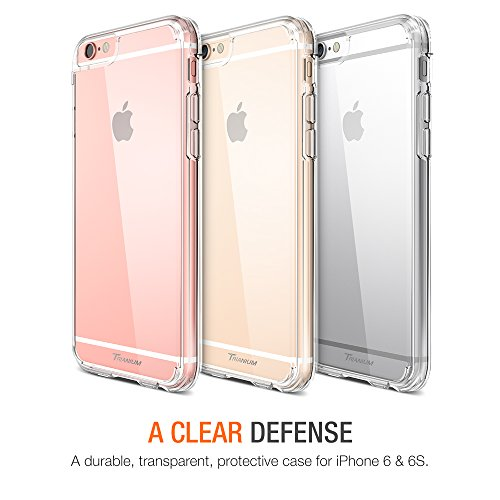 iPhone 6S Case, Trainium [Clear Cushion] Premium Clear Case Hard Back Panel + TPU Bumper for Apple iPhone 6 (2014) / iPhone 6s (2015) - Shock Absorbing + Scratch Resistant Frame Cover Case - Clear