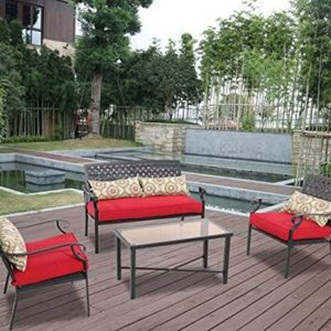 Alexandria Crossing 4-Piece Outdoor Conversation Set, Seats 4