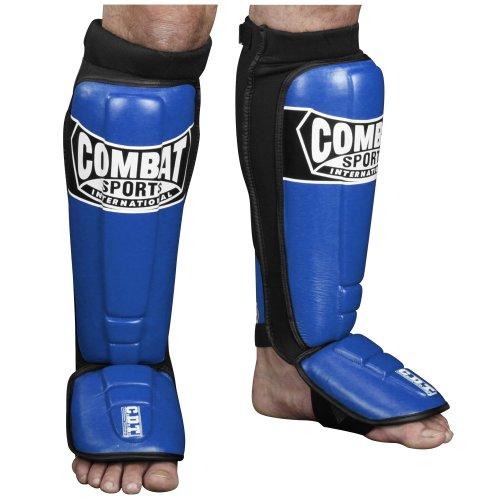 Combat Sports Pro-Style MMA Shin Guards, Blue, Regular