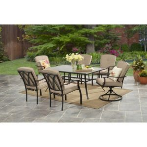Mainstays Belden Park 7-Piece Dining Set, Tan