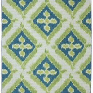 Mohawk Contemporary Rectangle Area Rug 5'x8' Lime-Teal Summer Splash Collection