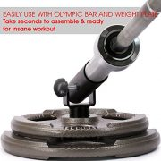 """Yes4All T-Bar Row Plate Post Insert Landmine – Fit 2"""" Olympic Bars – Full 360° Swivel & Easy to Install"""