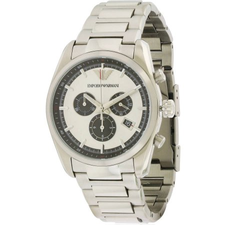 Emporio Armani Stainless Steel Chronograph Men's Watch, AR6007