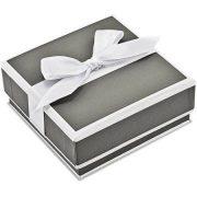 10kt White Gold Diamond-Cut Post Dangle Earrings 4