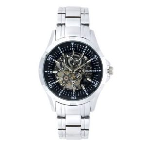 Elgin Men's Skeleton Stainless Steel Automatic Watch