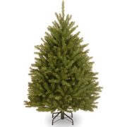 National Tree Unlit 4-1/2' Dunhill Fir Hinged Artificial Christmas Tree
