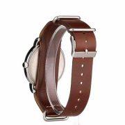 Timex Weekender 40 Watch, Brown Double-Layered Leather Slip-Thru Strap 2