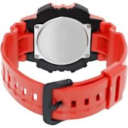 Casio Men's Solar Sport Combination Watch, Red Glossy Resin Strap 2