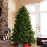 National Tree Unlit 4-1/2' Dunhill Fir Hinged Artificial Christmas Tree 3
