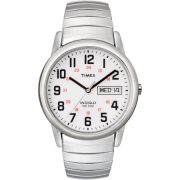 Timex Men's Easy Reader Watch, Silver-Tone Stainless Steel Expansion Band 1