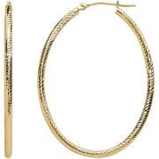 Simply Gold 10kt Yellow Gold 45mm Oval Hoop Earrings