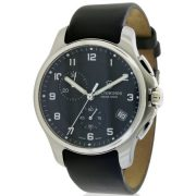 Swiss Army Victorinox Officers Leather Chronograph Men's Watch, 241552.1