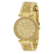 Michael Kors Mini Parker Crystal Bezel Ladies Watch MK5842