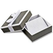 10kt White Gold Diamond-Cut Post Dangle Earrings 5