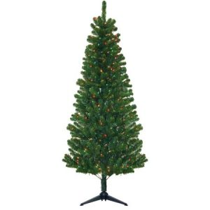 Pre-Lit 7' Morrison Artificial Christmas Tree, 300 Multi Lights