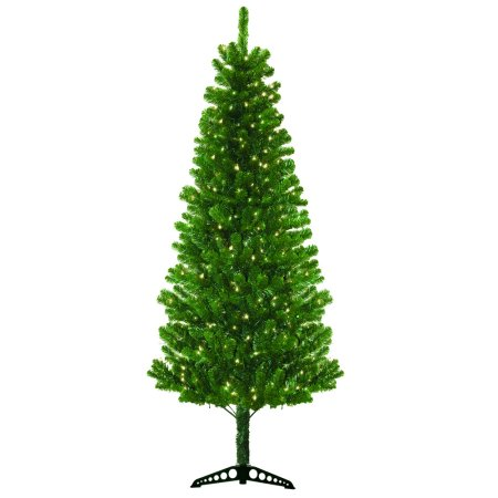 Pre-Lit 7' Morrison Artificial Christmas Tree, 300 Clear Lights