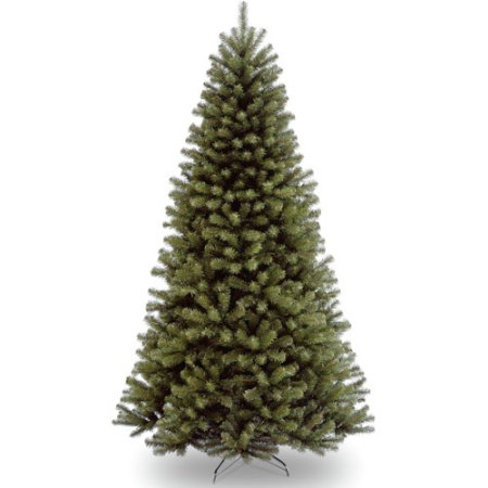 National Tree Unlit 7-1/2' North Valley Spruce Hinged Artificial Christmas Tree