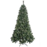Vickerman 4.5' Unlit Butte Mixed Pine Artificial Christmas Tree with Metal Stand 1