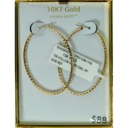 Simply Gold 10kt Yellow Gold 45mm Oval Hoop Earrings 1