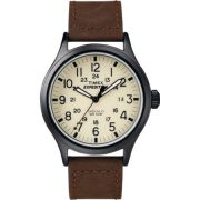 Timex Men's Expedition Scout Brown Watch, Leather Strap