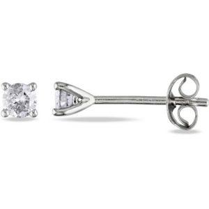 Miabella 1/4 CT. Diamond Martini Style Stud Earrings in Sterling Silver