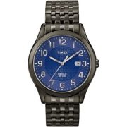 Timex Men's Woodcrest Drive Watch, Black Stainless Steel Expansion Band