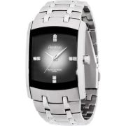 Armitron Men's Swarovski Crystal-Accented Silver-Tone Gray-Degrade Dial Dress Watch