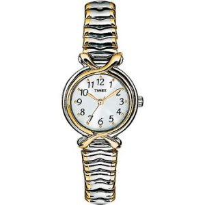 Timex Women's Pleasant Street Watch, Two-Tone Stainless Steel Expansion Band