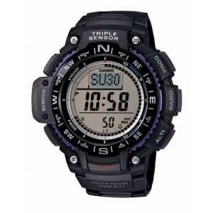 Casio Men's Triple Sensor Compass Watch, Black Resin Strap