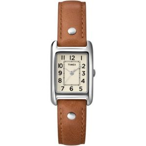 Timex Women's Bristol Park Watch, Honey Brown Leather Strap
