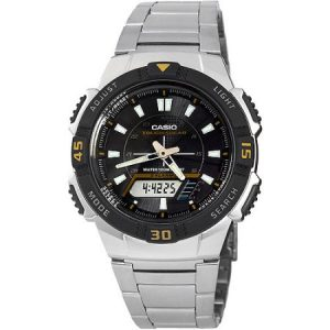 Casio Men's Slim Solar-Powered Watch, Stainless Steel