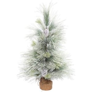 Vickerman 3' Frosted Norway Pine Artificial Christmas Tree, Unlit
