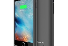 iPhone 6S Battery Case – iPhone 6 Battery Case, Trianium Atomic S iPhone Portable Charger iPhone 6 6S Charging Case[Black][Lifetime Warranty]-3100mAh Battery Pack Juice Bank Cover[MFI Apple Certified]