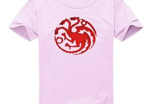 Vintage Style Game Of Thrones House Targaryen Dragon Sigil For Women's Printed Short Sleeve Tee Tshirt X-Large PINK