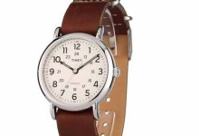 Timex Weekender 40 Watch, Brown Double-Layered Leather Slip-Thru Strap 1