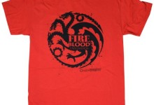 Game of Thrones Targaryen Onecolor Mens Tee (Medium, Red)