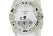 Tissot  Men's T0025201711100 Racing Touch White Rubber Watch