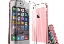 iPhone SE Case, Enther [Ultimate Cushion] Slim Fit Scratch/Dust Proof Hybrid Transparent Clear Case with Shock Absorb Trim Bumper for Apple iPhone SE 5S-Warranty