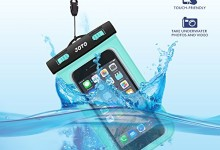 JOTO Waterproof Cell Phone Dry Bag Case for Apple iPhone 6, 6 plus, 5S 5C 5 4S, Samsung Galaxy S6, S5, Galaxy Note 4 3, Windows, HTC LG Sony Nokia Motorola – Green