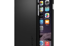 iPhone 6 Case, Spigen® [Thin Fit] Exact-Fit [Smooth Black] Premium SF Coated Non Slip Surface with Excellent Grip Case for iPhone 6 (2014) – Smooth Black (SGP10936)