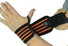 Deluxe Wrist Wraps 13″ Long (1 Pair /2 Wraps) for WEIGHT LIFTING TRAINING WRIST SUPPORT COTTON WRAPS GYM BANDAGE STRAPS Orange