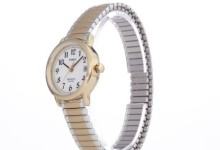Timex Women's Easy Reader Watch, Two-Tone Stainless Steel Expansion Band 1