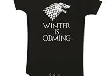 Winter is Coming Baby Bodysuit (3-6) Black