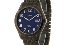 Timex Men's Woodcrest Drive Watch, Black Stainless Steel Expansion Band 1