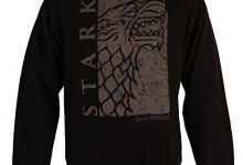 HBO's Game of Thrones Stark Sigil Crewneck Sweatshirt – Black (X-Large)