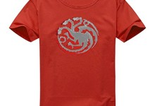 Vintage Style Game Of Thrones House Targaryen Dragon Sigil For Women's Printed Short Sleeve Tee Tshirt Large Red